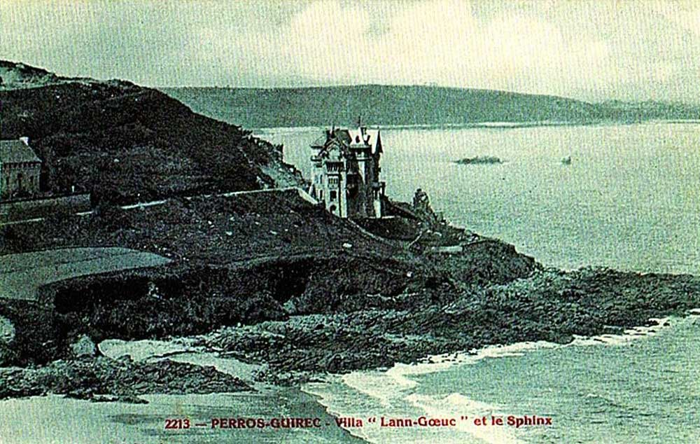 Photo ancienne Manoir du Sphinx Perros-Guirec Trestignel